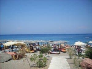 Der öffentliche Strandabschnitt vor dem Hotel